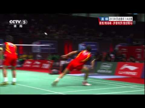 Fu Haifeng's trick shot at 2013 Sudirman Cup