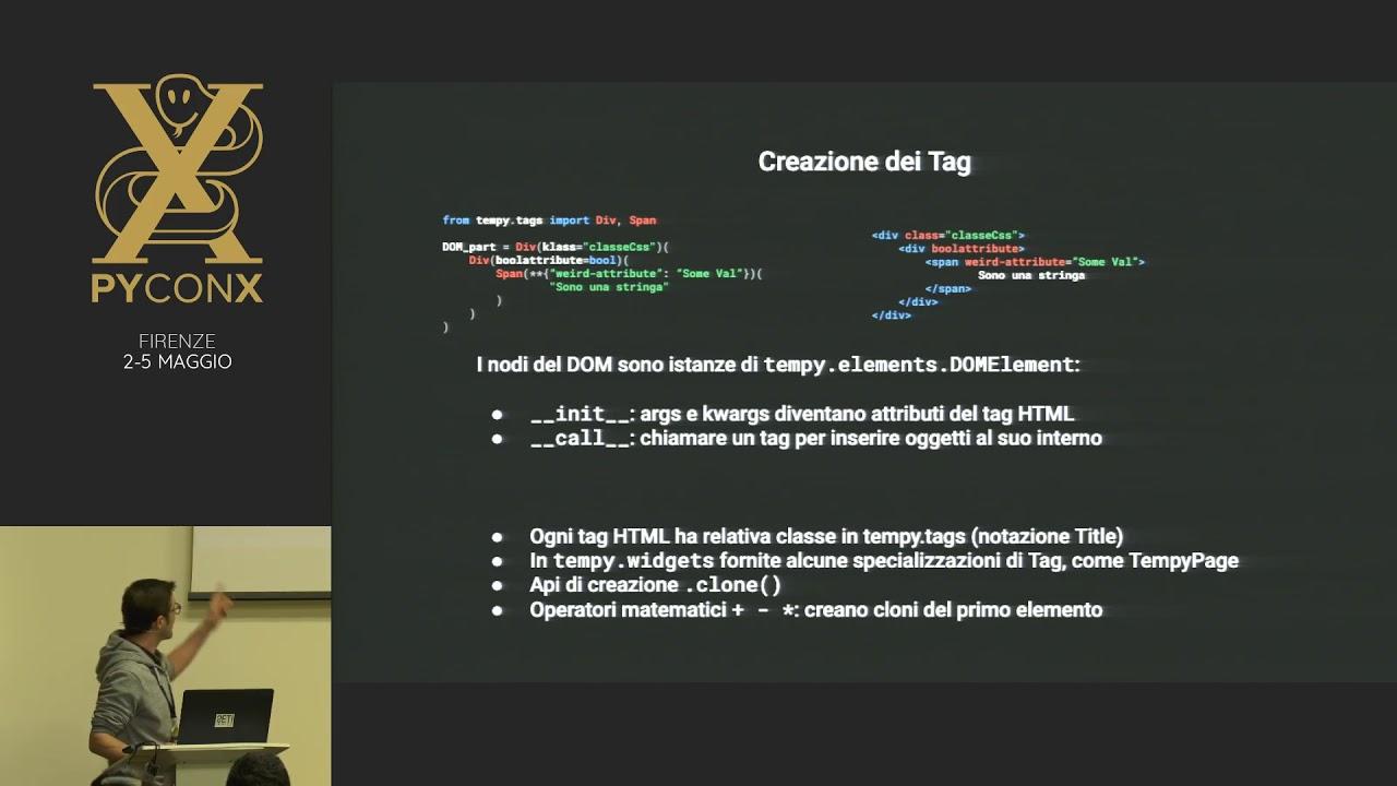 Image from TemPy! Una alternativa al templating tradizionale usando solo Python.