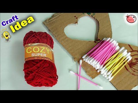 Genius Craft Idea || Heart Shaped Wall Hanging Making At Home | DIY Room Decor 2018 | Handmade Craft
