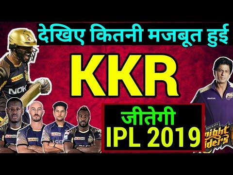 IPL 2019: KKR Strength in IPL 2019, Kolkata Knight Riders 2019