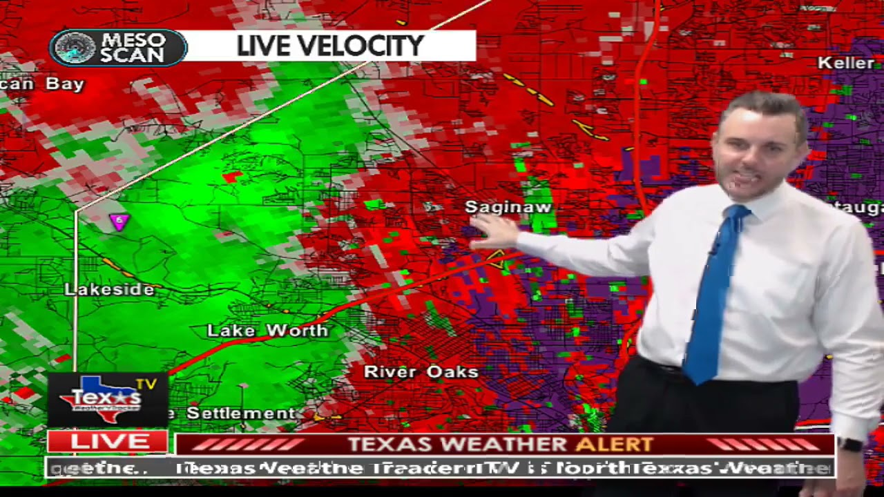 Tarrant County Tornado Warning 4 28 21 Replay from Texas Weather Tracker TV