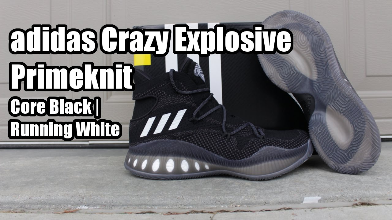 3557634f6 ... coupon for adidas crazy explosive primeknit core black w on foot youtube  912c6 d263d