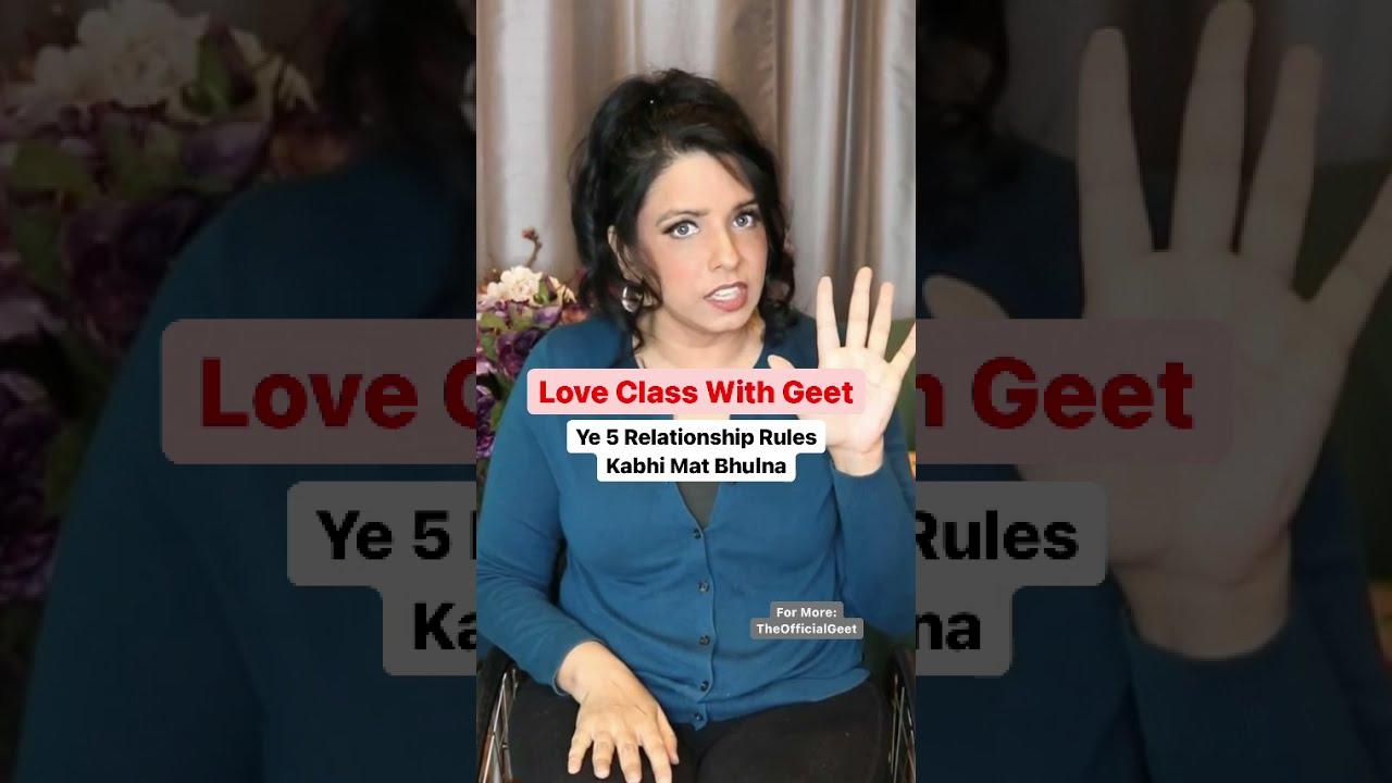 Happy Rishte ke Liye Ye 5 Rules Maano Love Class   Relationship Status   The Official Geet   #shorts