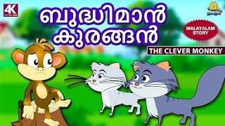 Malayalam Story for Children - ബുദ്ധിമാൻ കുരങ്ങൻ | Clever Monkey | Malayalam Fairy Tales |Koo Koo TV