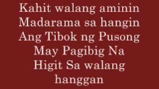 Kahit Walang Sabihin-Lyrics Rico Blanco