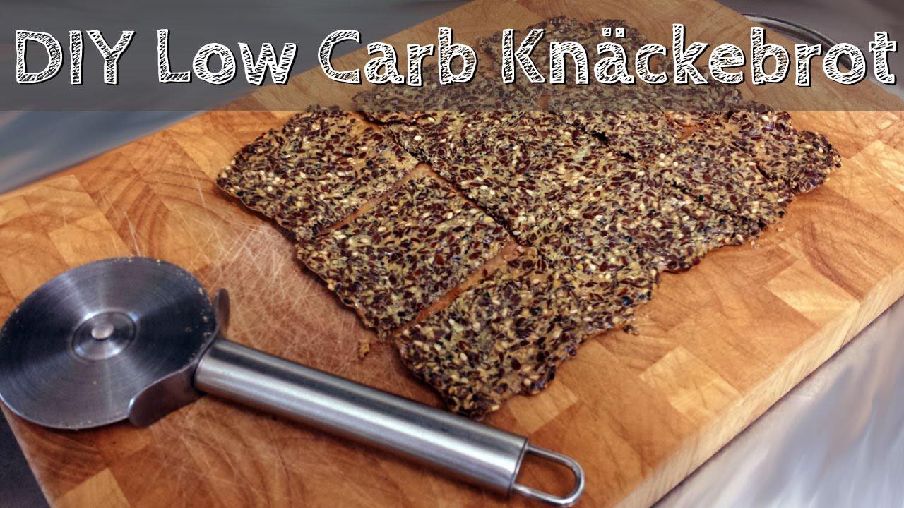 diy low carb brot selber machen knäckebrot schnell und