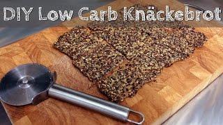 DIY Low Carb Brot selber machen - Knäckebrot schnell und einfach | Selfmade Low Carb Crispbread