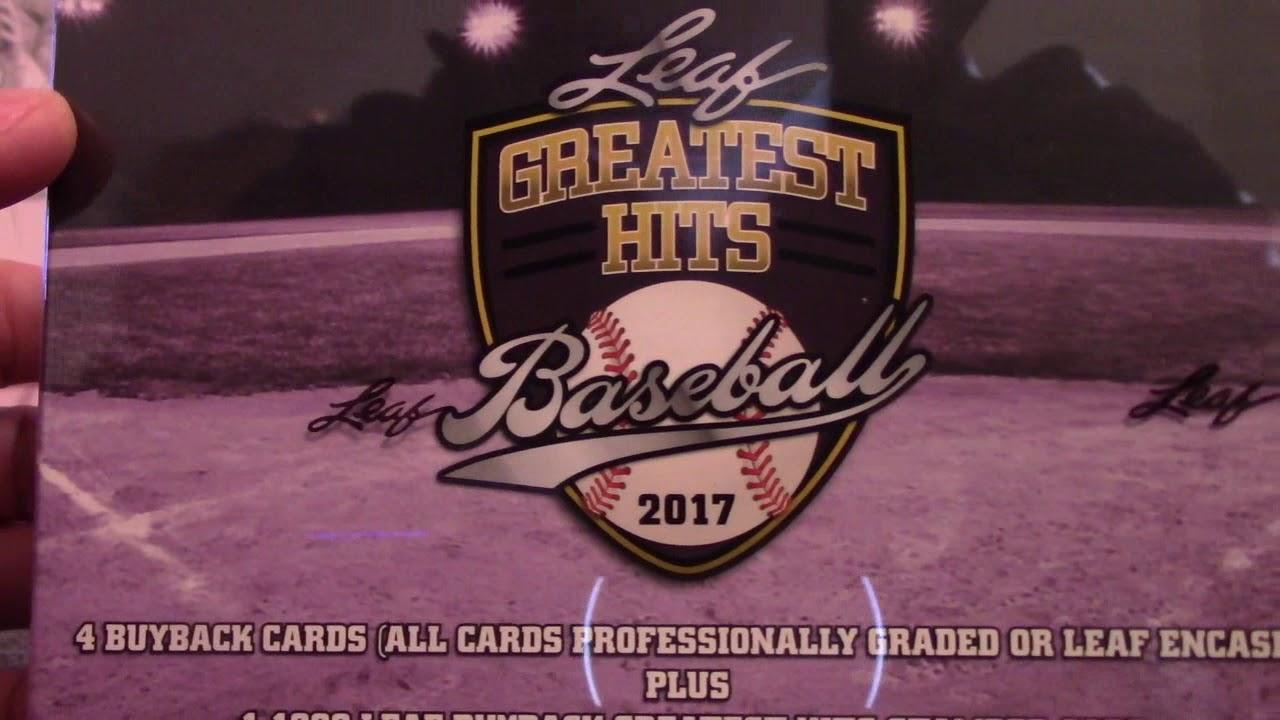 055285f84e4 Stephen s 2017 Leaf Greatest Hits Baseball Box Break - YouTube