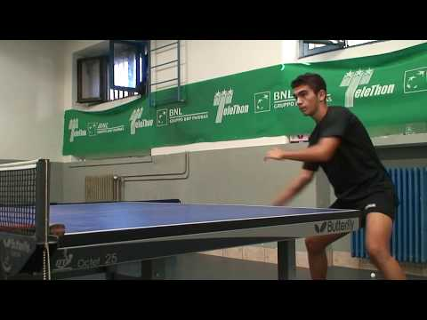 MATTEO MONACO table tennis session training