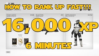how to rank up fast 16 000 xp in 6 minutes star wars battlefront