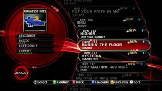 [720P HD] Dance Dance Revolution (2011) - All Songs Setlist Scroll