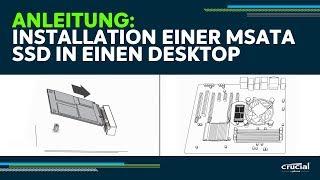 Anleitung: So installieren Sie ein mSATA-SSD auf Ihrem Desktop