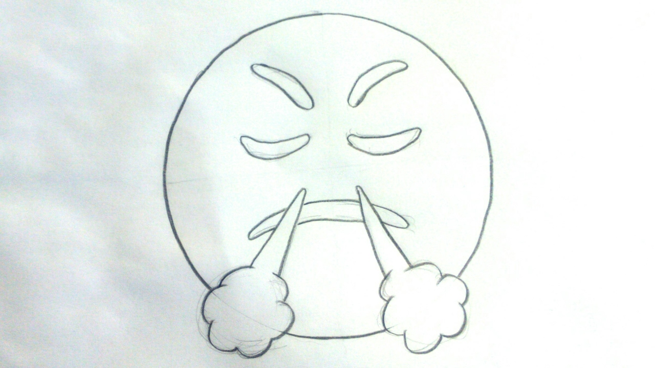 Dibujos De Emojis Para Colorear: Dibujar Emojis: Cómo Dibujar Un Emoji Enfadado Del