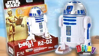 star wars r2 d2 bop it interactive electronic game unboxing play