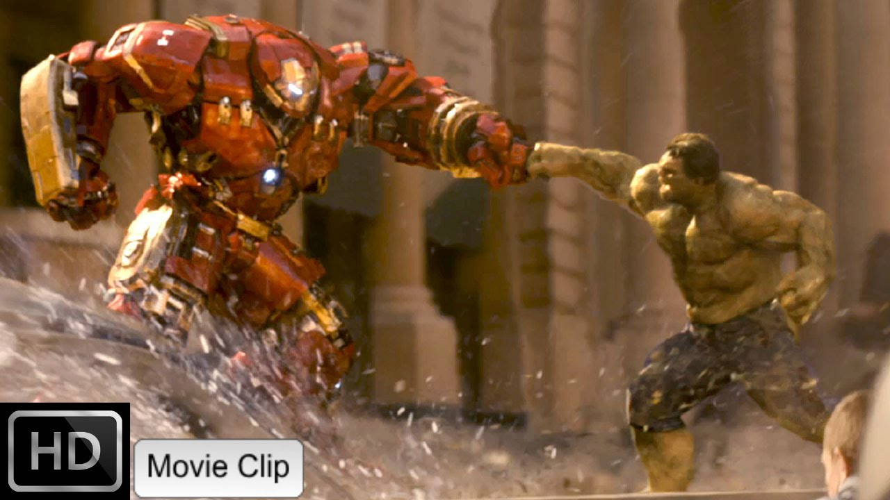 Avengers Age Of Ultron The Hulk Vs Iron Man Hd Youtube
