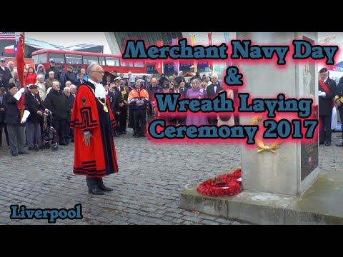 Merchant Navy Day Service and Wreath Laying Ceremony, Liverpool 2017