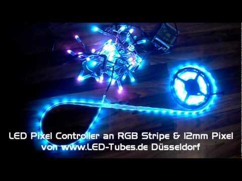 led rgb 12mm pixel lichterkette digital led dreamcolor led streifen dmx youtube