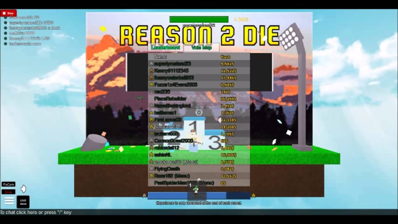 how to zoom in reason to die 2 roblox