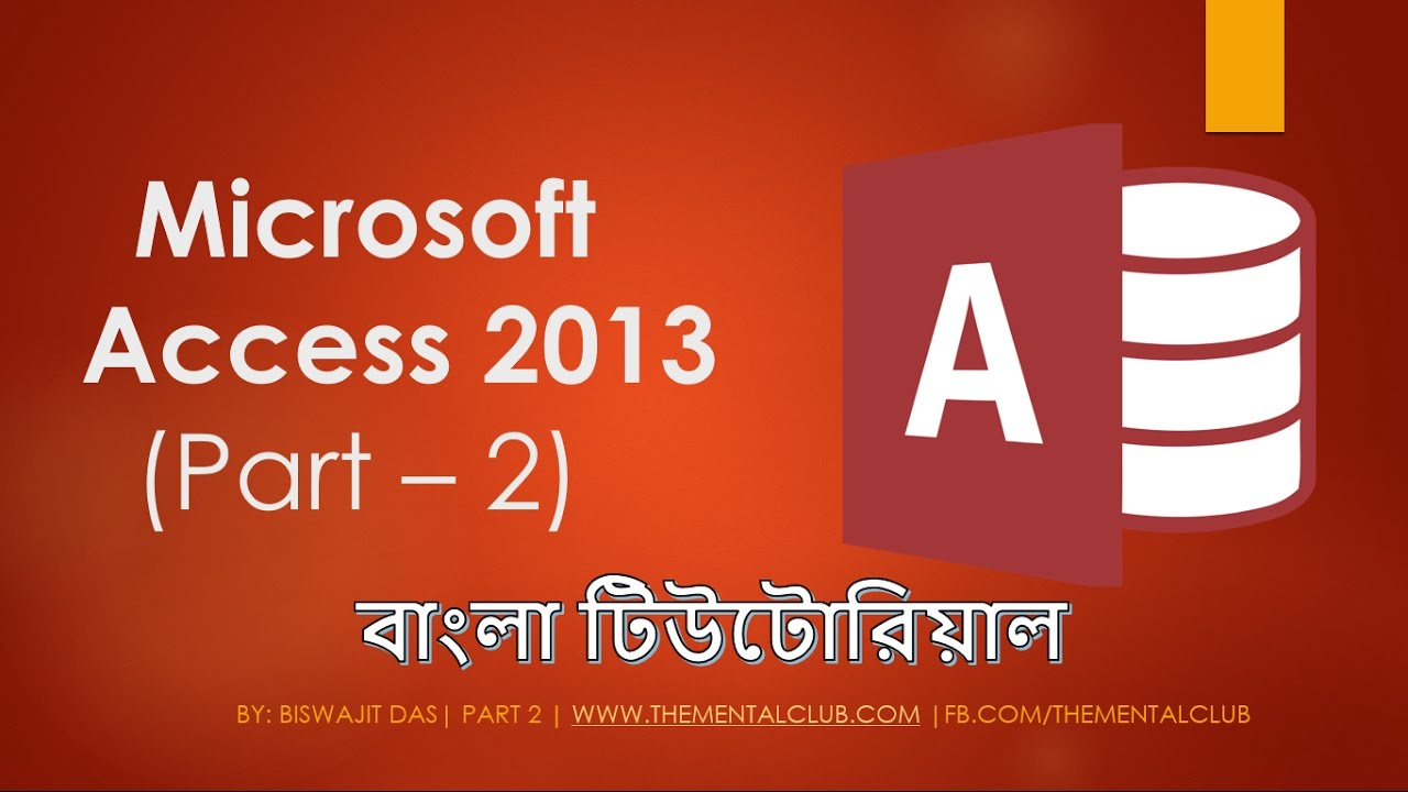Microsoft Access 2013 Tutorial Creating Tables Part 2 Youtube - Www
