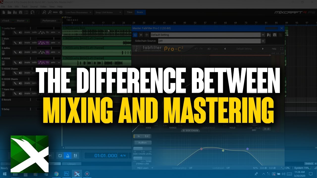 Mix & Mastering Differences in Mixcraft 9