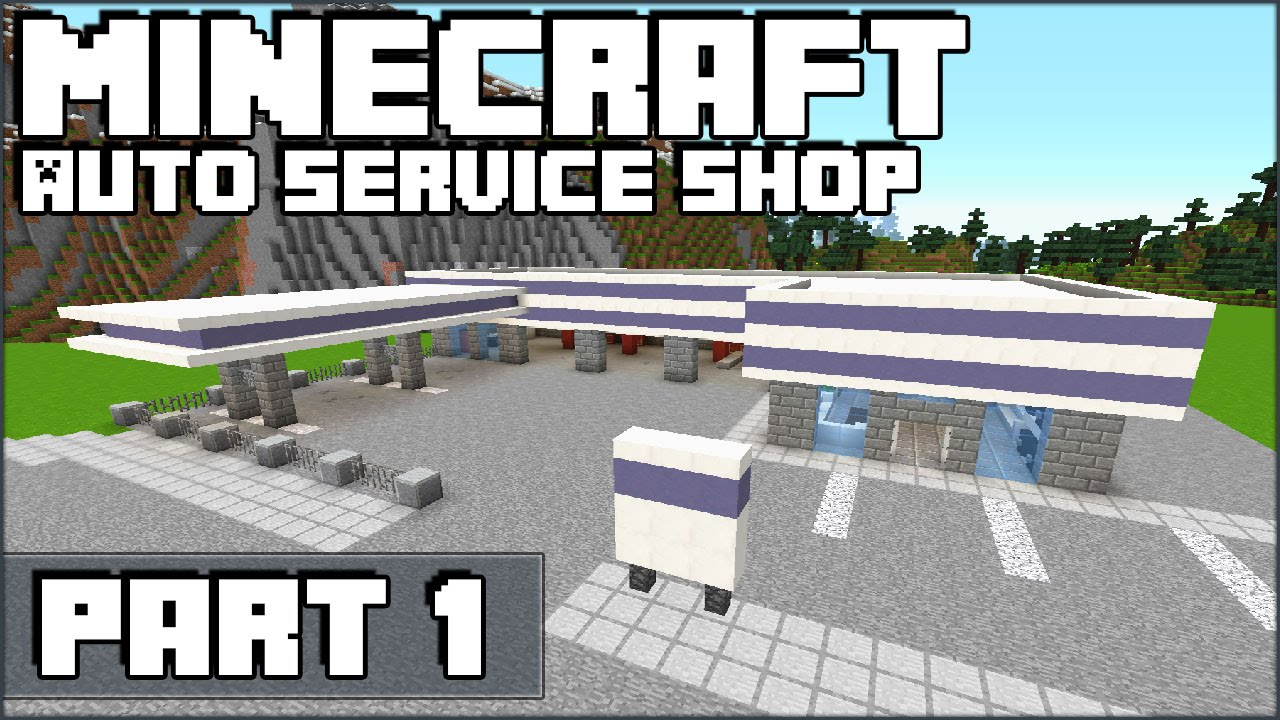how to build a shop on minecraft