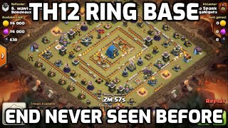 NEVER SEEN BEFORE - Eagle Artillery LAST Building Standing - TH12 Ring Base Wipe - Clash of Clans