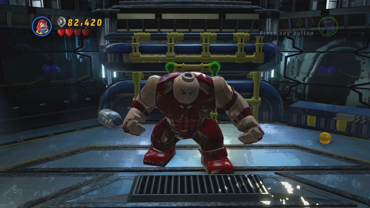 LEGO Marvel Super Heroes Level 8 Juggernauts And Crosses First Walkthrough