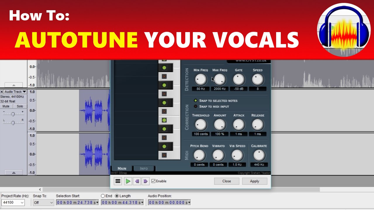 How To: Autotune Your Voice & Vocals in Audacity