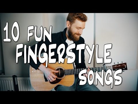 10 fun FINGERSTYLE guitar songs