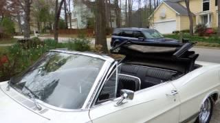 1967 Ford Galaxie 500 XL convertible top demo