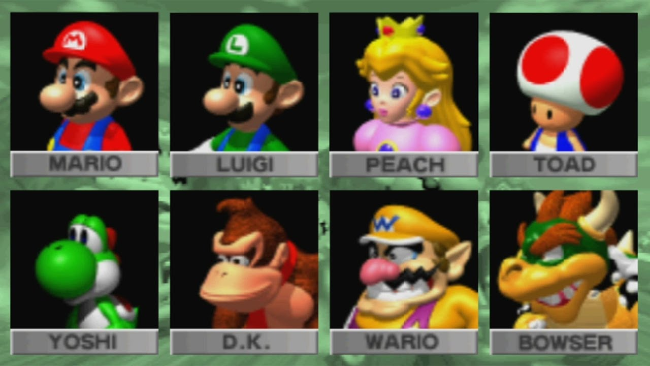 Mario Kart 64 All Characters Youtube