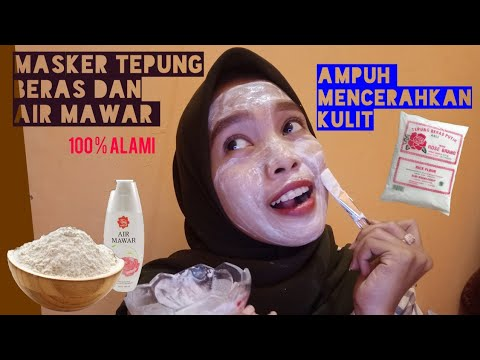 Masker Tepung Beras Dan Air Mawar Aulia Rahma Youtube