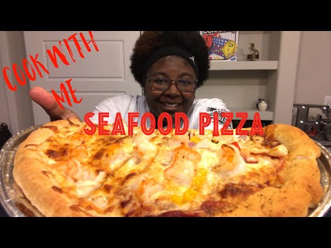 How to Cook: Seafood Pizza 🍕 | White Pizza, Cajun Pizza MUKBANG | Cooking Show, Eating Show