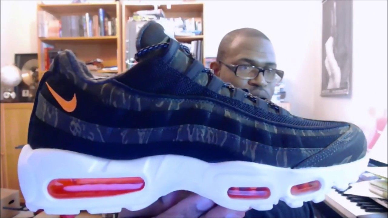0150b6f383cd1 Nike Air Max 95 WIP 'Carhartt' Black/Total Orange-Sail AV3866-001 ...