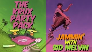 You like to party? With the new Krux Party Pack you'll be holding down the streets in style!  Sid Melvin hits up the local Kernside DIY & serves up some tasty maneuvers. The Party Pack includes: Two Trucks, Eight (8) Glow Sticks, Stickers, and Wax (not intended for consumption). Party on!  Follow Sid on Instagram! @mrsidemelvin  SUBSCRIBE to the First Video Mag In Skateboarding! http://bitly.com/SubscribeToStrangeNotes  Stay Social! https://www.facebook.com/strangenotes87 https://twitter.com/strangenotes http://instagram.com/strangenotes
