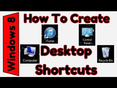 how to create desktop shortcut windows 1
