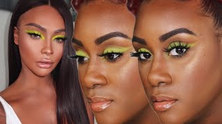 SONJDRA DELUXE COME HELP ME...I Tried Recreating One of Her Neon Eyeshadow Looks
