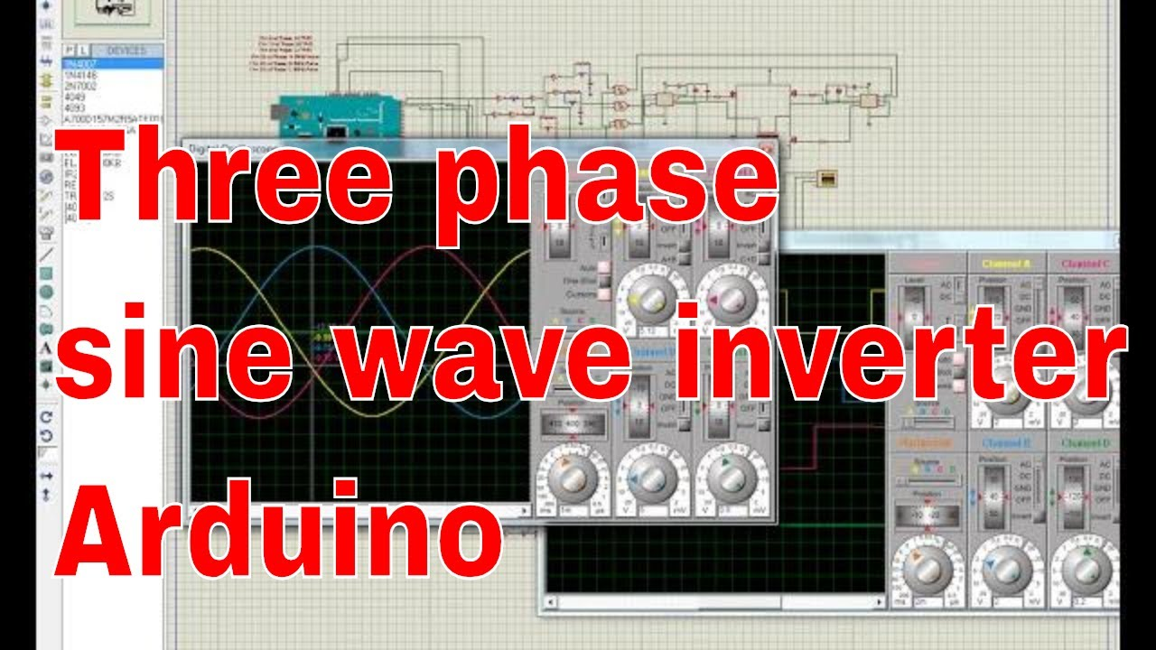 8051 Microcontroller Circuit Diagram Three Phase Pure Sine Wave Inverter Using Youtube