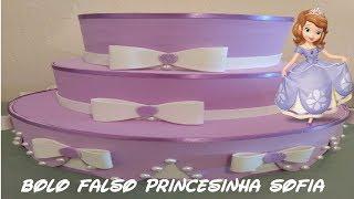 BOLO FALSO, PASSO A PASSO PRINCESINHA SOFIA