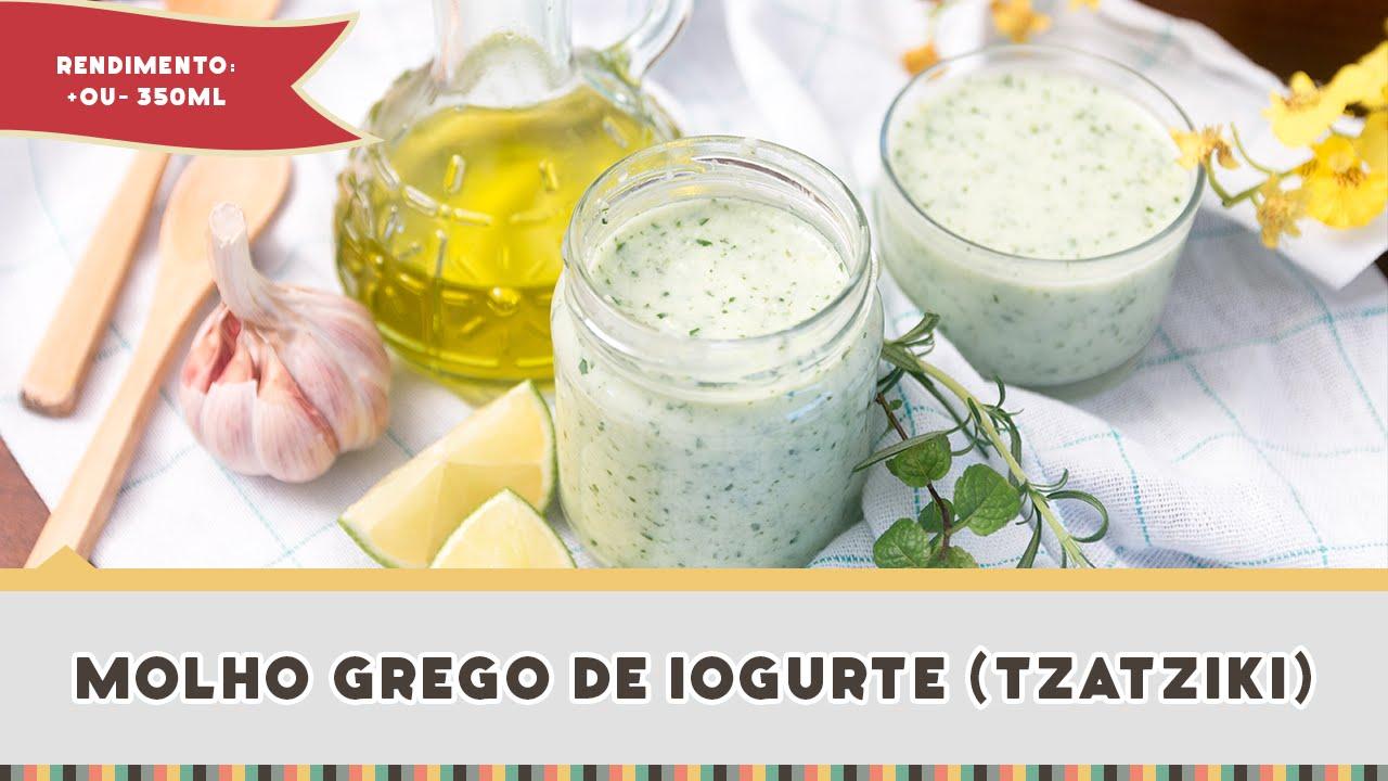 receita de molho de iogurte