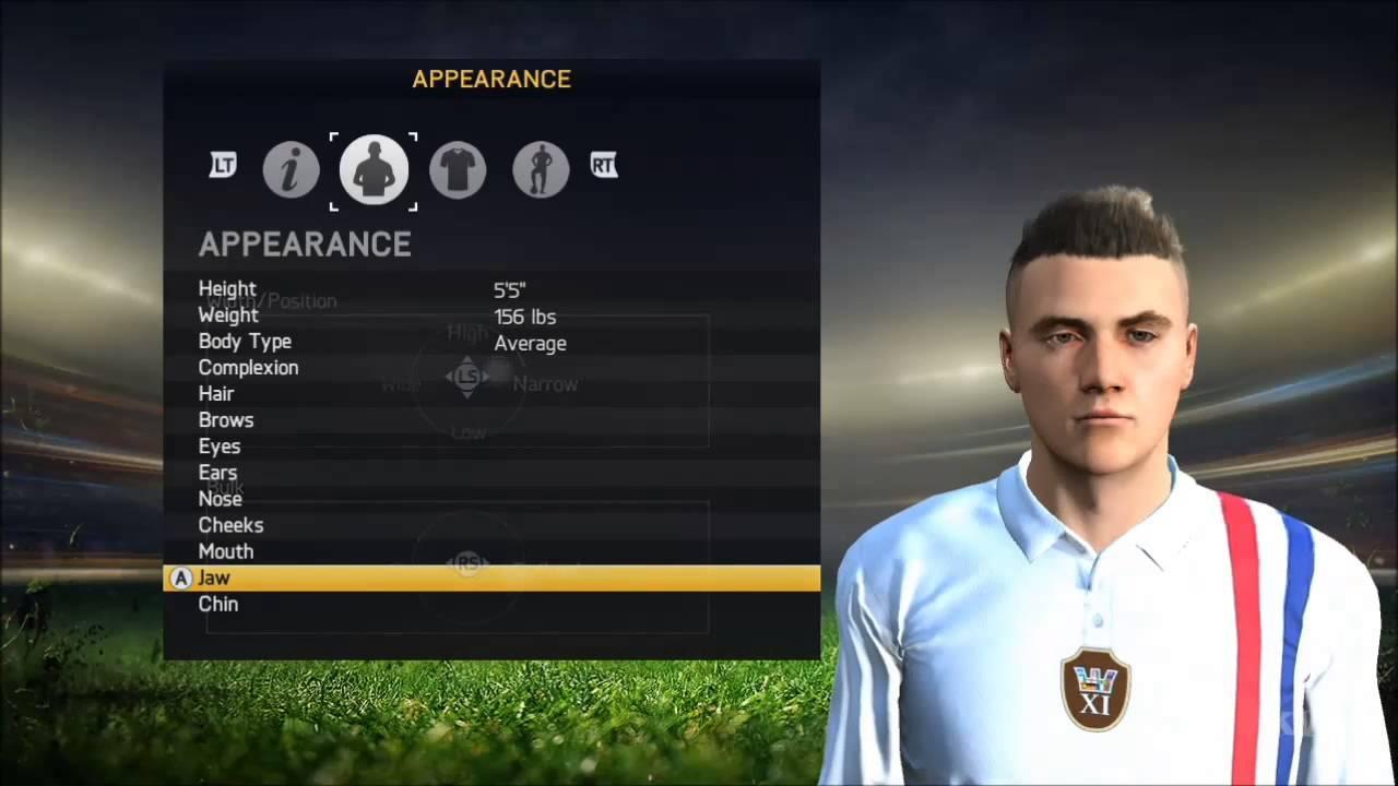 fifa 15 create player hd youtube