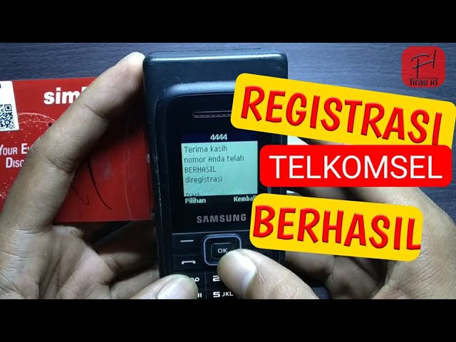 Cara Registrasi Kartu Telkomsel Youtube