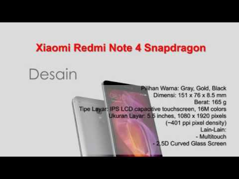 Xiaomi Redmi Note 4 Snapdragon Spesifikasi Youtube