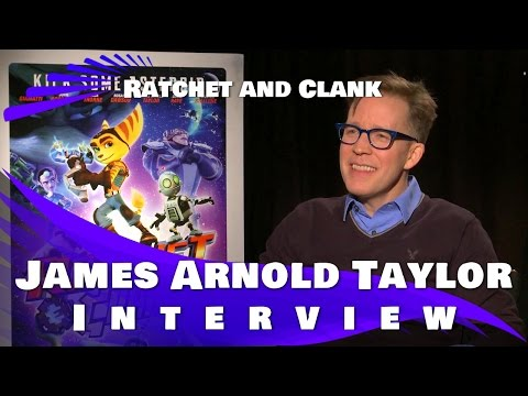 Ratchet and Clank - James Arnold Taylor Interview (voice of Ratchet)