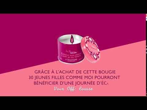 Vidéo Film L'occitane La Flamme Marie-Claire - Voix Off ENFANT: Louise