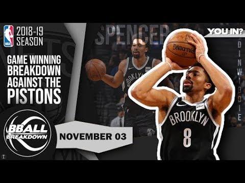 Nets Guard Spencer Dinwiddie Breaks Down His Game Winner Over The Pistons