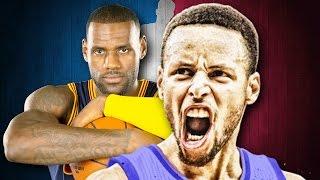 Stephen Curry vs LeBron James. Epic Rap Battles of NBA History.