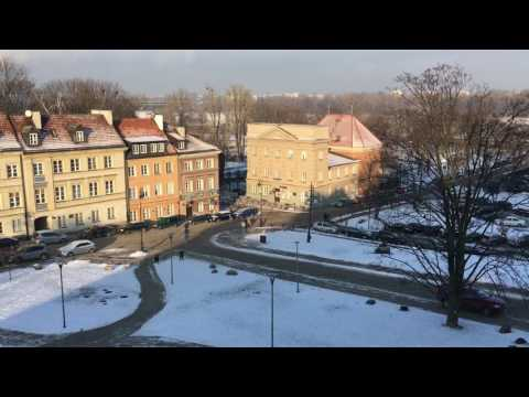 Views Around the City of Warsaw, Poland - January 2017