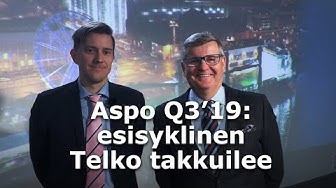 Aspo Q3'19: esisyklinen Telko takkuilee