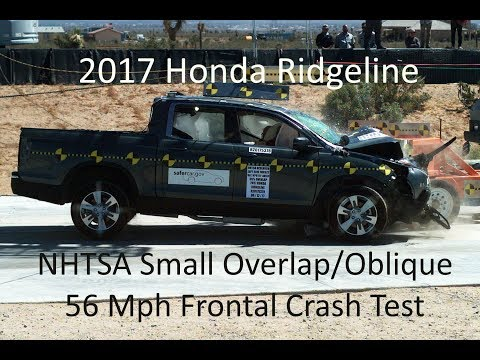 2017-2019 Honda Ridgeline NHTSA Oblique Overlap Frontal Crash Test (Test #2)
